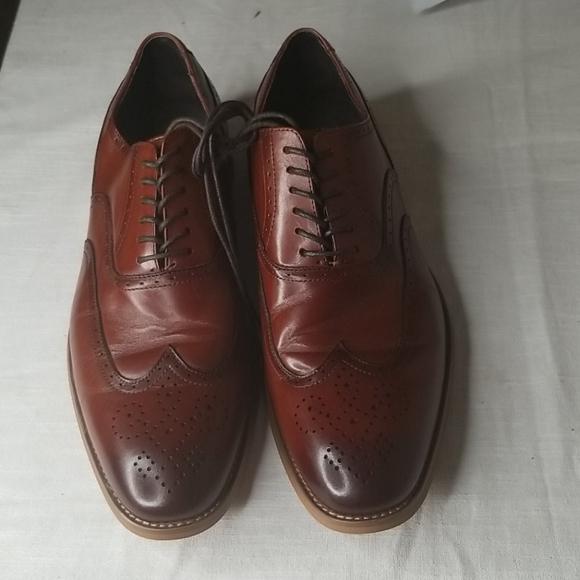 Stacy Adam's Dunbar Wingtip Cognac Shoes Size 11